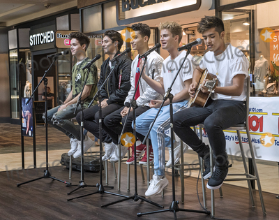 Youngstown Photo - 20 June 2018 - Youngstown Ohio - Hollywood Records recording artists IN REAL LIFE perform a few of their hits for their fans at the Southern Park Mall The boy band composed of (left to right) Michael Conor Chance Perez Drew Ramos Brady Tutton and Sergio Calderon were the five finalists from the ABC reality music television competition series BOY BAND  Photo Credit Jason L NelsonAdMedia