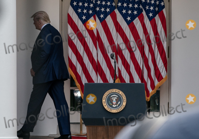 The White Photo - United States President Donald J Trump departs after giving an update on the Nations Coronavirus Testing Strategy in the Rose Garden of the White House September 28 2020 in Washington DC  Credit Ken Cedeno  Pool via CNPAdMedia