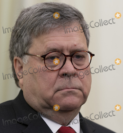 alaska Photo - United States Attorney General William P Barr listens as US President Donald J Trump signs an Executive Order Establishing the Task Force on Missing and Murdered American Indians and Alaska Natives in the Oval Office of White House in Washington DC on Tuesday November 26 2019Credit Chris Kleponis  Pool via CNPAdMedia