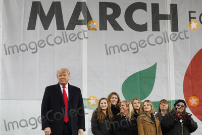 The National Photo - United States President Donald J Trump attends the 47th annual March for Life on the National Mall in Washington DC on January 24 2020 Credit Yuri Gripas  Pool via CNPAdMedia
