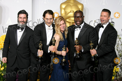 Steve Mc Queen Photo - 02 March 2014 - Hollywood California - Anthony Katagas Jeremy Kleiner Dede Gardner Steve McQueen and Brad Pitt 12 Years A Slave 86th Annual Academy Awards held at the Dolby Theatre at Hollywood  Highland Center Photo Credit AdMedia