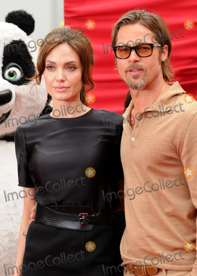 Graumans Chinese Theatre Photo - 20 September 2016 - Los Angeles CA - Angelina Jolie Pitt has filed for divorce from Brad Pitt Jolie Pitt 41 filed legal docs Monday citing irreconcilable differences Jolie Pitt requested physical custody of the couples shared six children  Maddox Pax Zahara Shiloh Vivienne and Knox  asking for Pitt to be granted visitation citing legal documents File Photo 22 May 2011 - Hollywood California - Angelina Jolie and Brad Pitt Kung Fu Panda 2 Los Angeles Premiere held at Graumans Chinese Theatre Photo Credit Byron PurvisAdMedia