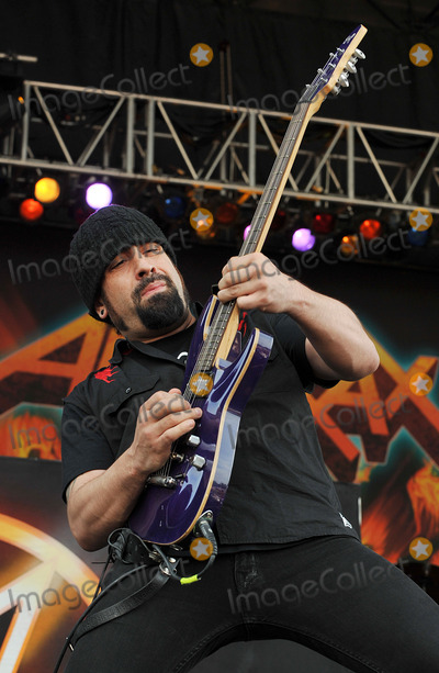 Anthrax Photo - 20 May 2012 - Columbus OH -  Guitarist ROB CAGGIANO of the thrash metal band ANTHRAX performs at Day 2 of the  Rock On The Range Festival held at Crew Stadium Photo Credit Jason L NelsonAdMedia