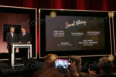 Ang Lee Photo - 14 January 2016 - Beverly Hills California - Ang Lee Guillermo del Toro Category Sound Editing 88th Annual Oscars Nominations Announcement held at the Samuel Goldwyn Theater Photo Credit Byron PurvisAdMedia