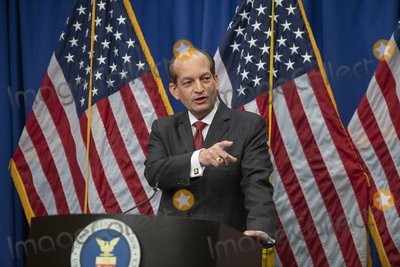 Alex Acosta Photo - United States Secretary of Labor Alex Acosta holds a press conference at the Department of Labor in Washington DC on Wednesday July 10 2019  He was discussing the Epstein CasePhoto Credit Ron SachsCNPAdMedia