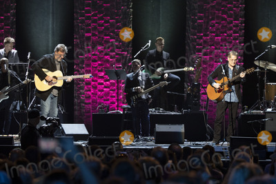Vince Gill Photo - 30 April 2019 - Nashville Tennessee - Vince Gill performs with Wayne Kirkpatrick at 35 Years of Friends Celebrating the Music of Michael W Smith held at Bridgestone Arena Photo Credit Frederick BreedonAdMedia