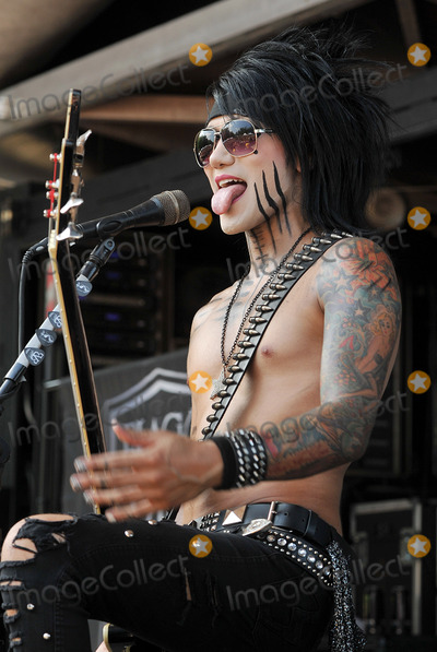 Ashley Purdy Photo - 20 July 2011 - Cleveland OH - Bassist ASHLEY PURDY of the band BLACK VEIL BRIDES performs on a stop of the Vans Warped Tour 2011 held at the Blossom Music Center  Photo Credit Jason L NelsonAdMedia