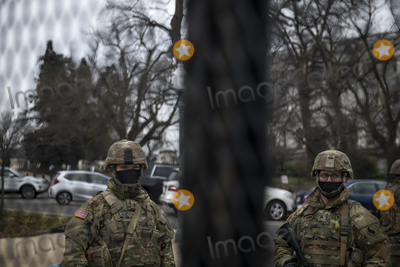 The National Photo - Members of the National Guard are posted up at the US Capitol as preparations are made for the upcoming inauguration of President Joe Biden at the US Capitol in Washington DC Friday January 15 2021 Credit Rod Lamkey  CNPAdMedia