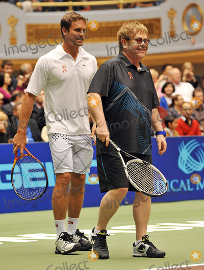 Amelie Mauresmo Photo - 27 October 2011 - Cleveland OH - Musician SIR ELTON JOHN and pro tennis player JAN_MICHAEL GAMBILL play at the annual World TeamTennis Smash Hits charity night of tennis to Cleveland for the first time in the events 19-year history Tennis greats Andy Roddick Martina Navratilova John McEnroe Amelie Mauresmo Coco Vandeweghe Jan-Michael Gambill and Cleveland area native Lauren Davisjoined other top players for WTT Smash Hits presented held at Public Hall Photo Credit Jason L NelsonAdMedia
