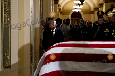 Will Rogers Photo - United States Representative John Lewis (Democrat of Georgia) arrives to pay his respects to US Representative Elijah Cummings (Democrat of Maryland) as Cummings lies in state outside of the House Chamber in the Will Rogers corridor of the US Capitol in Washington DC on October 24th 2019  Credit Anna Moneymaker  Pool via CNPAdMedia