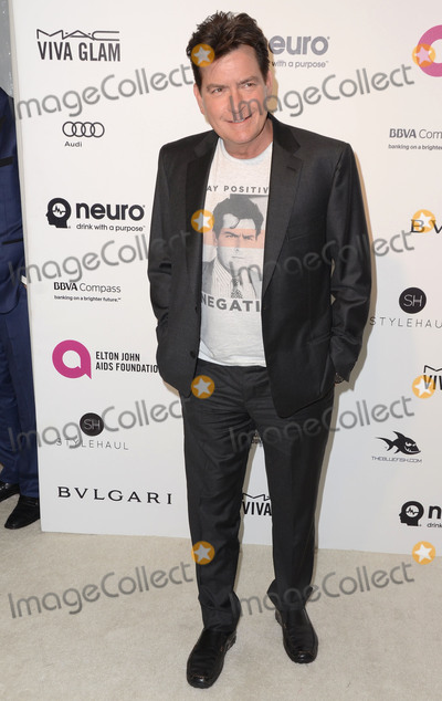 Charlie Sheen Photo - 28 February 2016 - West Hollywood California - Charlie Sheen 24th Annual Elton John Academy Awards Viewing Party sponsored by Bvlgari MAC Cosmetics Neuro Drinks and Diana Jenkins held at West Hollywood Park Photo Credit Birdie ThompsonAdMedia