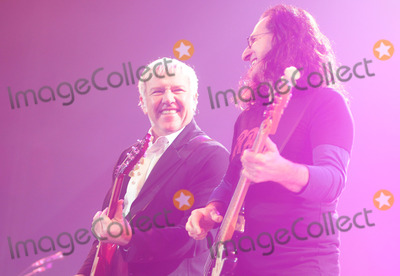 Alex Lifeson Photo - 19 April 2011 - Hamilton Ontario Canada - RUSH  Guitarist Alex Lifeson and singerbassist Geddy Lee of RUSH perform onstage at Copps Coliseum for the Time Machine Tour Photo Credit Brent PerniacAdMedia