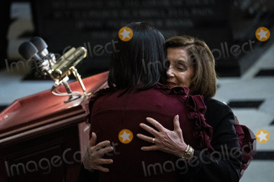 Elijah Cummings Photo - Speaker of the United States House of Representatives Nancy Pelosi (Democrat of California) from California right hugs Maya Rockeymoore widow of late US Representative Elijah Cummings (Democrat of Maryland) during a memorial shrive in National Statuary Hall at the US Capitol in Washington DC US on Thursday Oct 24 2019 Cummings a key figure in Democrats impeachment inquiry and a fierce critic of US President Donald J Trump died at the age of 68 on October 17 due to complications concerning long-standing health challenges Credit Al Drago  Pool via CNPAdMedia