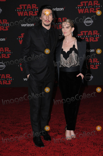 Adam Driver Photo - 09 December  2017 - Los Angeles California - Adam Driver Premiere Of Disney Pictures And Lucasfilms Star Wars The Last Jedi held at The Shrine Auditorium  in Los Angeles Photo Credit Birdie ThompsonAdMedia