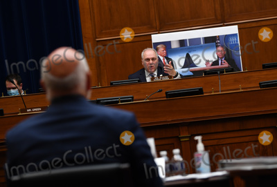 The National Photo - United States House Minority Whip Steve Scalise (Republican of Louisiana) speaks during a US House Subcommittee on the Coronavirus Crisis hearing on a national plan to contain the COVID-19 pandemic on Capitol Hill in Washington DC on Friday July 31 2020  Dr Anthony Fauci director of the National Institute for Allergy and Infectious Diseases Dr Robert Redfield director of the Centers for Disease Control and Prevention (CDC) and Adm Brett Giroir Assistant Secretary of Health and Human Services for Health testified before the committee Credit Kevin Dietsch  Pool via CNPAdMedia
