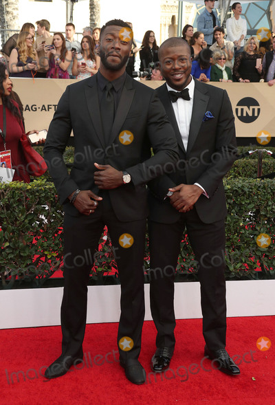 Aldis Hodges Photo - 29 January 2017 - Los Angeles California - Aldis Hodge Deon Cole 23rd Annual Screen Actors Guild Awards held at The Shrine Expo Hall Photo Credit F SadouAdMedia