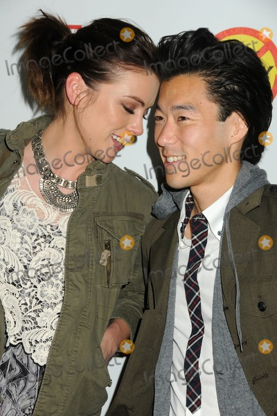 Aaron Yoo Photo - 26 March 2012 - Hollywood California - Jessica Stroup Aaron Yoo Bully Los Angeles Premiere held at Graumans Chinese 6 Theatre Photo Credit Byron PurvisAdMedia