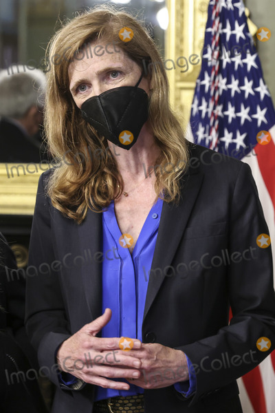 The Unit Photo - Samantha Power administrator of the United States Agency for International Development (USAID) speaks during a swearing in ceremony in the Eisenhower Executive Office Building in Washington DC US on Monday May 3 2021 The Senate confirmed Power who was an ambassador to the United Nations during the Obama administration on April 28Credit Oliver Contreras  Pool via CNPAdMedia