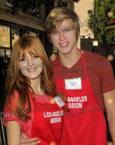 Anne Douglas Photo - 21 November 2012 - Los Angeles California - Bella Thorne and Tristan Klier Kirk And Anne Douglas Host 8th Annual Thanksgiving For Skid Row Homeless At Los Angele Mission Held At The Los Angeles Mission Photo Credit Kevan BrooksAdMedia