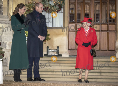 Elizabeth II Photo - 8th December 2020 - Prince William Duke of Cambridge Queen Elizabeth II Prince Charles Prince of Wales during an event to thank local volunteers and key workers for the work they are doing during the coronavirus pandemic and over Christmas in the quadrangle of Windsor Castle in Windsor Berkshire Photo Credit ALPRAdMedia