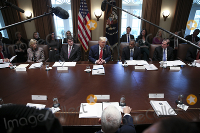 Alex Azar Photo - United States President Donald J Trump speaks during a Cabinet Meeting in the Cabinet Room of the White House on November 19 2019 in Washington DC  From left to right US Secretary of Education Betsy DeVos US Secretary of Veterans Affairs (VA) Robert Wilkie The President US Secretary of Housing and Urban Development (HUD) Ben Carson US Secretary of Health and Human Services (HHS) Alex AzarCredit Oliver Contreras  Pool via CNPAdMedia