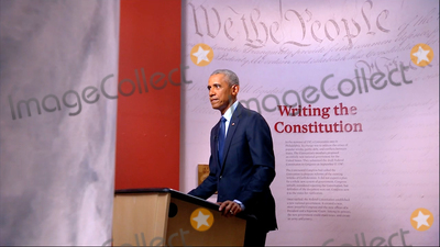 Barack Obama Photo - In this image from the Democratic National Convention video feed former United States President Barack Obama makes remarks on the third night of the convention on Wednesday August 19 2020Credit Democratic National Convention via CNPAdMedia