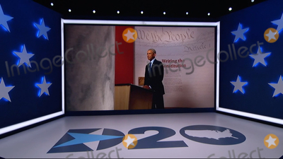 President Barack Obama Photo - In this image from the Democratic National Convention video feed former United States President Barack Obama makes remarks on the first night of the convention on Monday August 17 2020Credit Democratic National Convention via CNPAdMedia
