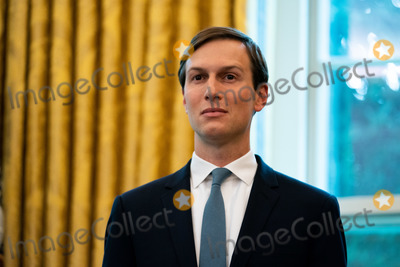 Donald Trump Photo - Jared Kushner Senior Adviser to President Donald Trump speaks in the Oval Office of the White House in Washington DC after the announcement that Bahrain would normalize relations with Israel at the White House in Washington DC on September 11 2020 Credit Anna Moneymaker  Pool via CNPAdMedia