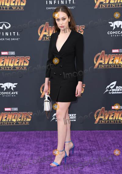 Alycia Debnam-Carey Photo - 23 April 2018 -  Hollywood California - Alycia Debnam Carey Disney and Marvels Avengers Infinity War Los Angeles Premiere held at Dolby Theater Photo Credit Birdie ThompsonAdMedia