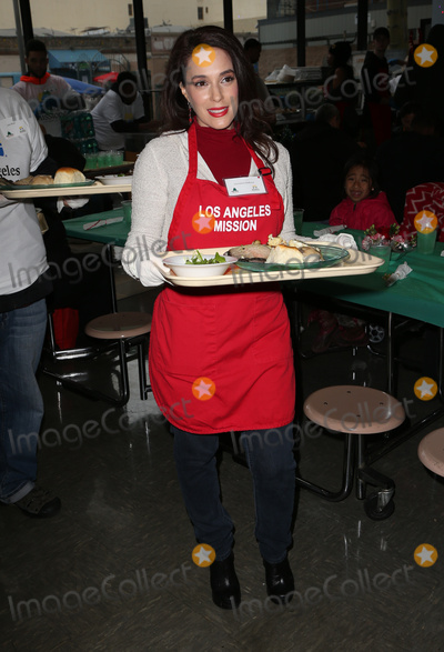 Christina DeRosa Photo - 23 December 2016 - Los Angeles California - Christina DeRosa Los Angeles Mission Christmas Celebration held at The Los Angeles Mission Photo Credit F SadouAdMedia