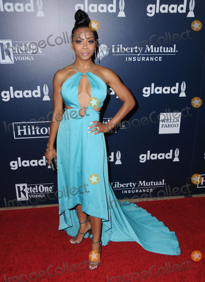 Bresha Webb Photo - 01 April 2017 - Beverly Hills California - Bresha Webb  28th Annual GLAAD Media Awards held at The Beverly Hilton Hotel in Beverly Hills Photo Credit Birdie ThompsonAdMedia