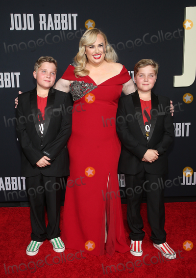 Rebel Wilson Photo - LOS ANGELES CA - OCTOBER 15 Rebel Wilson Davis Hardy Griffin Davis Gilby Griffin Davis at Premiere Of Fox Searchlights Jojo Rabbit at Post 43  in Los Angeles California on October 15 2019 Credit Faye SadouMediaPunch
