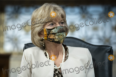 alaska Photo - United States Senator Lisa Murkowski (Republican of Alaska) wears a protective covering during a Senate Health Education Labor and Pensions Committee hearing in Washington DC US on Tuesday June 30 2020 Top federal health officials are expected to discuss efforts to get back to work and school during the coronavirus pandemic Credit Al DragoCNPAdMedia