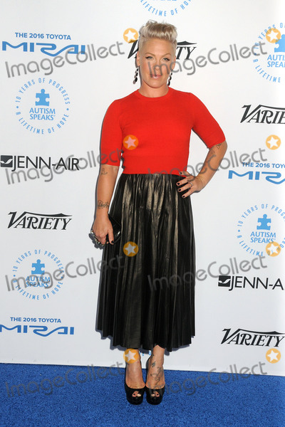 Alecia Moore Photo - 8 October 2015 - Santa Monica California - Pink Alecia Moore Autism Speaks To Los Angeles Celebrity Chef Gala held at Barker Hangar Photo Credit Byron PurvisAdMedia