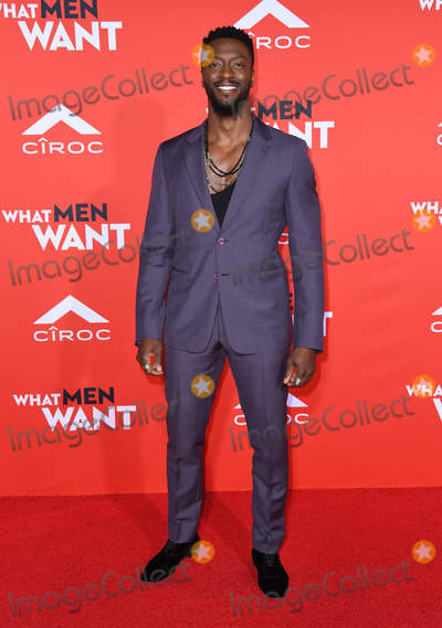 Aldis Hodge Photo - 28 January 2019 - Westwood California - Aldis Hodge What Men Want Los Angeles Premiere held at Regency Village Theater Photo Credit Birdie ThompsonAdMedia