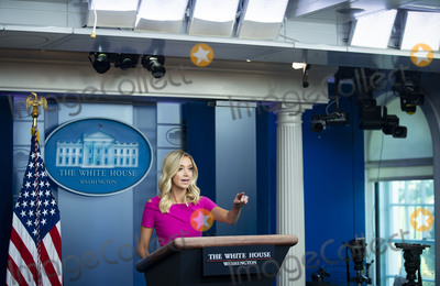 The White Photo - Kayleigh McEnany White House press secretary calls on a reporter during a news conference in the James S Brady Press Briefing Room at the White House in Washington DC US on Monday June 22 2020 Credit Al Drago  Pool via CNPAdMedia