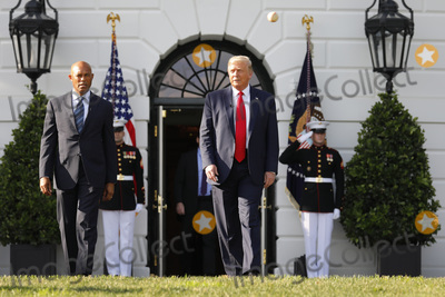 Mariano Rivera Photo - United States President Donald J Trump arrives with Mariano Rivera the MLB Hall of Fame Closer from the Yankees to mark the Opening Day of the Major League Baseball Season on the South Lawn of the White House in Washington DC on July 23 2020 Credit Yuri Gripas  Pool via CNPAdMedia