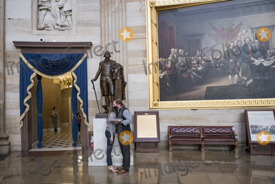 Kiss Photo - A couple shares a kiss in the Rotunda at the US Capitol in Washington DC Tuesday January 12 2021 nearly a week after hundreds of pro-Trump rioters staged an insurrection into the US Capitol Credit Rod Lamkey  CNPAdMedia