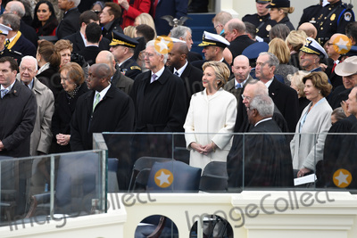 Bill Clinton Photo - Former President Jimmy Carter  Former President Bill Clinton wait with former President George W Bush (R) at inauguration on January 20 2017 in Washington DC Donald Trump becomes the 45th President of the United States Photo Credit Pat BenicCNPAdMedia