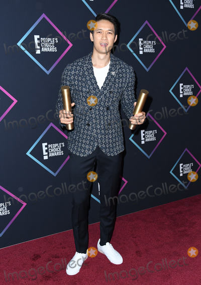 Harry Shum Jr Photo - 11 November 2018 - Santa Monica California - Harry Shum Jr  2018 E Peoples Choice Awards - Press Room held at Barker Hangar Photo Credit Birdie ThompsonAdMedia