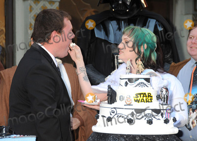 Andrew Porters Photo - 17 December 2015 - Hollywood California - Andrew Porters Caroline Ritter Fans Get Married With Star Wars Themed Wedding held at the TCL Chinese Theatre IMAX Photo Credit Byron PurvisAdMedia