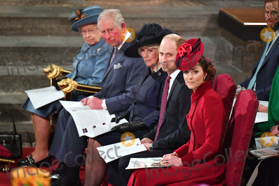 Queen Elizabeth II Photo - 09032020 - Queen Elizabeth II Prince Charles Camilla Duchess Of Cornwall Prince William Duke Of Cambridge and Kate Duchess of Cambridge Commonwealth Day 2020 Service at Westminster Abbey in London Photo Credit ALPRAdMedia