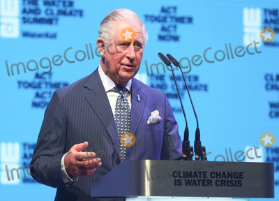 Wale Photo - 10032020 - Prince Charles Prince of Wales speaks on stage at the WaterAid water and climate event at Kings Place in London Photo Credit ALPRAdMedia