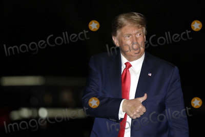White House Photo - United States President Donald J Trump offers a thumbs up as he walks on the South Lawn of the White House upon his return to Washington DC from Georgia on October 16 2020 Credit Yuri Gripas  Pool via CNP