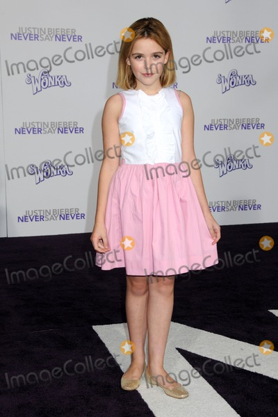 Kiernan Shipka Photo - 8 February 2011 - Los Angeles California - Kiernan Shipka Justin Bieber Never Say Never Los Angeles Premiere held at Nokia Theater LA Live Photo Byron PurvisAdMedia