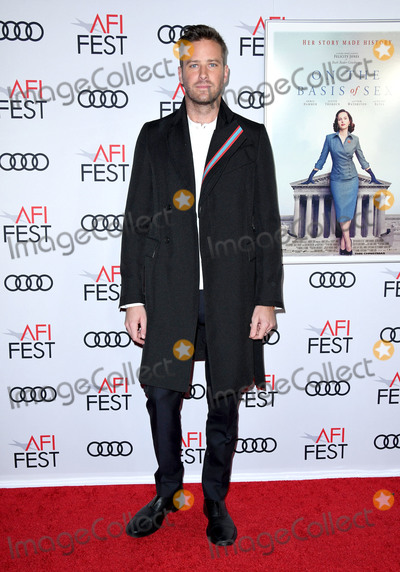 Armie Hammer Photo - 08 November 2018 - Hollywood California - Armie Hammer  AFI FEST 2018 Presented By Audi - Opening Night World Premiere Gala Screening Of On The Basis Of Sex held at TCL Chinese Theater Photo Credit Birdie ThompsonAdMedia
