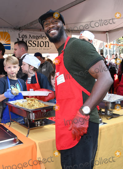 Aldis Hodge Photo - 21 November 2018 - Los Angeles California - Aldis Hodge 2018 LA Mission Thanksgiving held at LA Mission Photo Credit Birdie ThompsonAdMedia