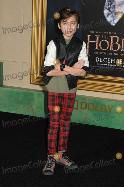 Aidan Gallagher Photo - 9 December 2014 - Hollywood California - Aidan Gallagher The Hobbit The Battle Of The Five Armies Los Angeles Premiere held at the Dolby Theatre Photo Credit Byron PurvisAdMedia