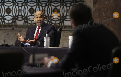Booker Photo - United States Senator Cory Booker (Democrat of New Jersey) questions Judge Justin Reed Walker during Walkers Senate Judiciary Committee confirmation hearing to be a US Circuit Court judge for the District of Columbia Circuit held on Capitol Hill in Washington DC US May 6 2020 Credit Jonathan Ernst  Pool via CNPAdMedia