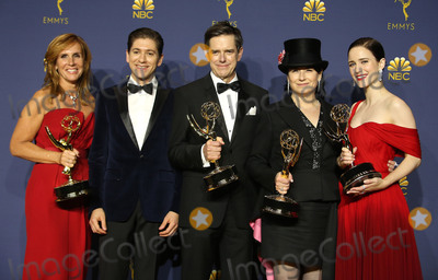 Amy Sherman-Palladino Photo - 17 September 2018 - Los Angles California - Sheila Lawrence Michael Zegen Daniel Palladino Amy Sherman-Palladino Rachel Brosnahan 70th Primetime Emmy Awards held at Microsoft Theater LA LIVE Photo Credit Faye SadouAdMedia